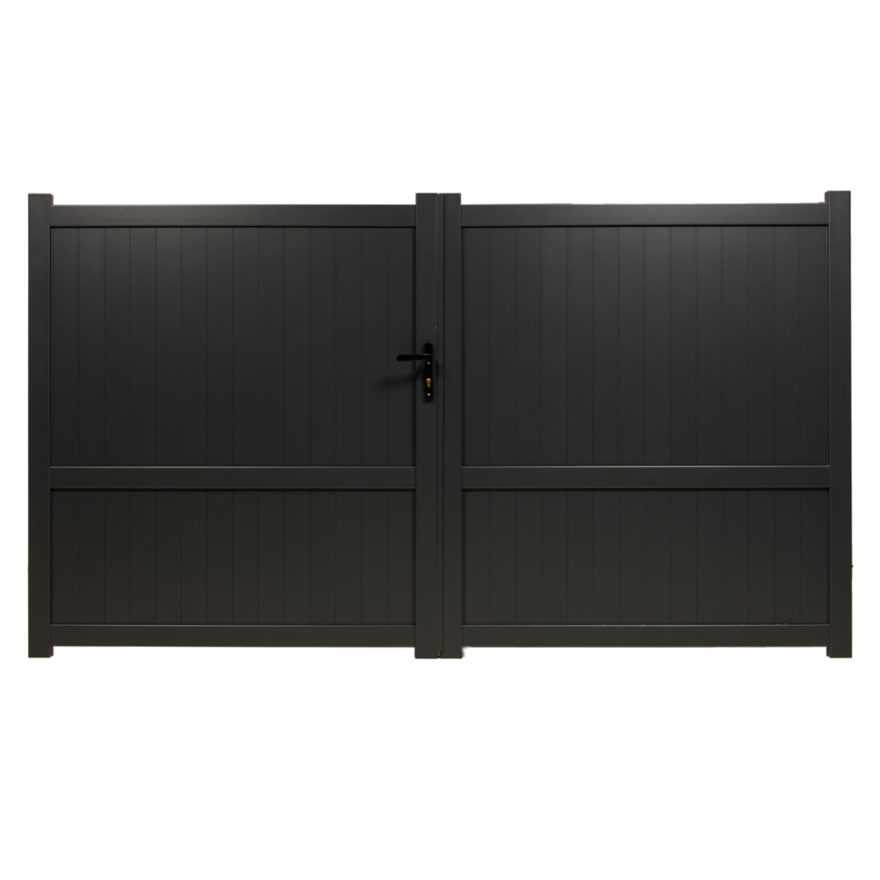 portail aluminium double battants menton hauteur 1m70. Black Bedroom Furniture Sets. Home Design Ideas
