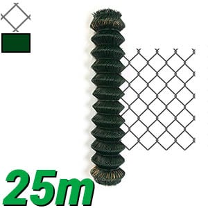 Grillage simple torsion 25m - maille losange 50x50mm