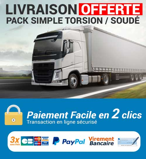 Pack simple torsion et grillage soudé livraison offerte