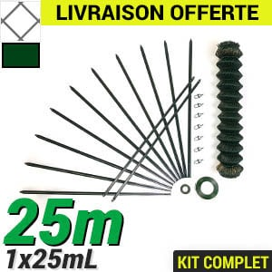 Pack Grillage Simple Torsion 25m - Kit complet 50x50