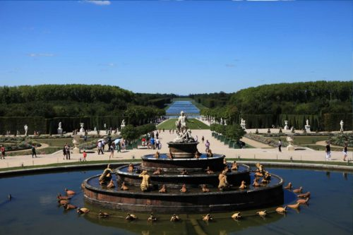 perspective chateau versailles