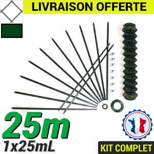 Grillage souple : Kit Grillage simple torsion 25m