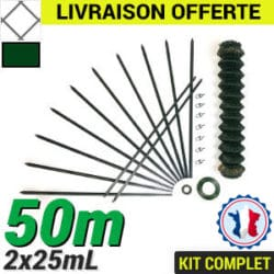 Grillage souple : Kit Grillage simple torsion 50m