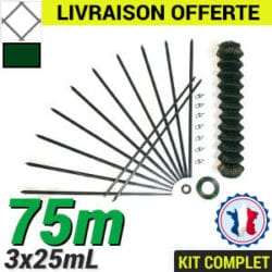 Grillage souple : Kit Grillage simple torsion 75m