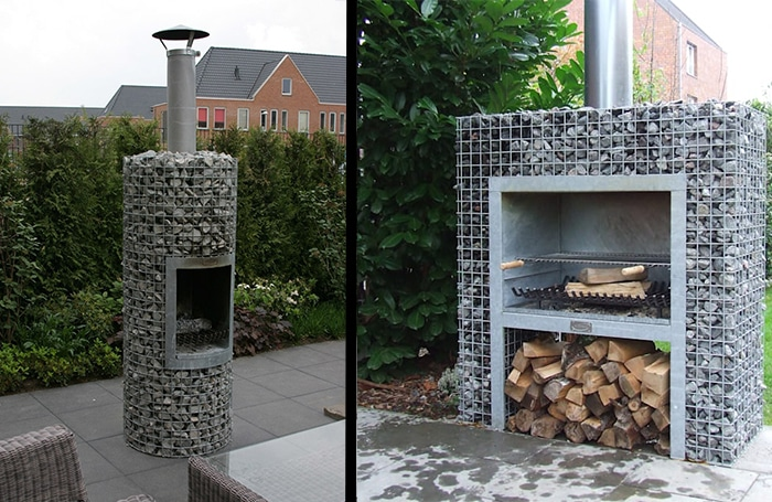Barbecue gabion