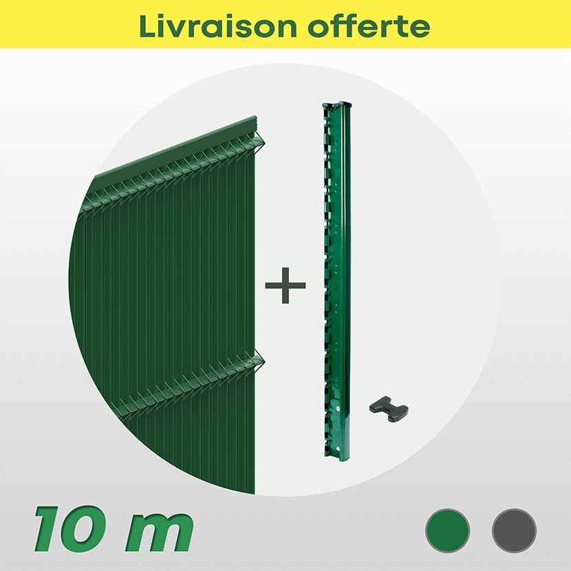 Kit Grillage Rigide Et Occultant Pvc (10 M)